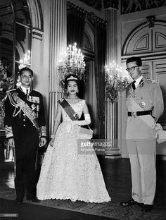King Bhumibol, Queen Sirikit And King Baudouin I Of Belgium.