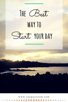 Do you have trouble getting up in the morning? Well, I have found the secret to getting energy, strength, endurance, patience, peace and joy each morning. Click