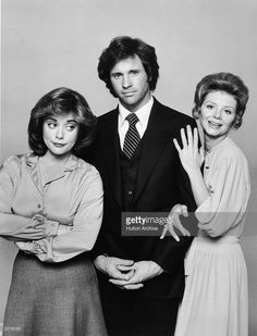 A promotional portrait of the cast of the television series, 'Angie,' showing actors (L-R) Donna Pescow, Robert Hays and Sharon Spelman, 1979.