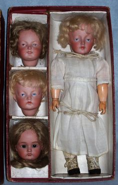 Kestner set of character dolls in their original box, Antique Doll SOLD from Faraway Antique Shop on Doll Shops United http://farawayantiqueshop.com