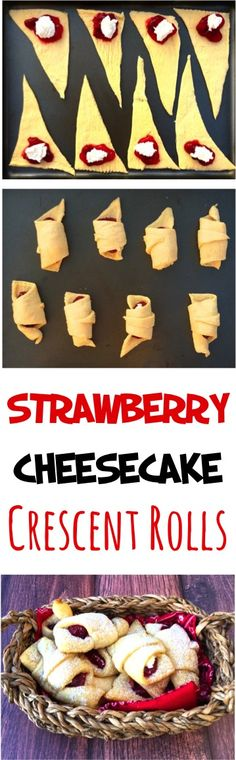 Strawberry Crescent Rolls! Need an EASY dessert? This 3 Ingredient Strawberry Cheesecake Crescent Roll Recipe is about as easy as it gets! SO tasty!! Lemon Dump Cake Recipe, Dump Cake Recipes, Cheesecake Recipes, Crescent Roll Cheesecake, Crescent Roll Recipes, Crescent Rolls, Cake Mix Banana Bread, Easy Banana Bread, Banana Bread Recipes