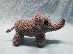 Cute little elephant crocheted by Mercy!