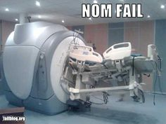 Oops, don't put metal in an MRI. Don't let them bring your hospital bed either!