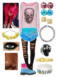 """""""Emo Pinkie"""" by mylittlepony-outfits ❤ liked on Polyvore featuring R13, True Religion, cutekawaii, Cult Gaia, Monday, Anita Ko, Alexander McQueen, Valentino, MLP and MyLittlePony"""