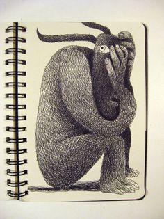 Bestiario : Francesco Chiacchio Moleskine Sketchbook, Artist Journal, Funky Art, Visual Diary, Sketch Inspiration, Types Of Art, Children's Book Illustration, Art Plastique, Illustrations Posters