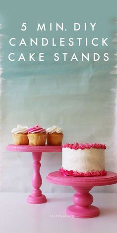 After all the cakes we've been making around here lately, we realized we were in need of a few more cake stands. Ends up, they're super...