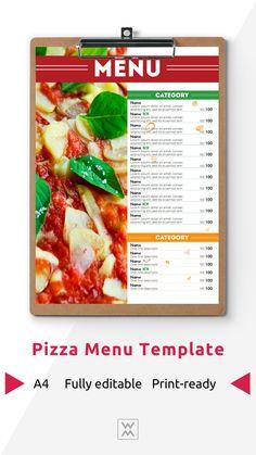 Pizza menu design | Дизайн меню пиццерии Pizza Menu Design, Restaurant Menu Design, Menu Online, Social Media Design, Signage, Art Drawings, Graphic Design, Food, Essen