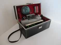 Vintage 1970s Polaroid Camera Model 440, Used Camera w/ Case, Flash Bulb, 2 Manuals, Collectable Camera, Display Decor, Fine Art Photography