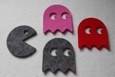 Felt Coaster Set of 4 Start protect your table surfaces from hot tea cup, mug by FeelMyCraft on Etsy