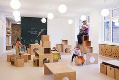 Kita Sinneswandel by Baukind | News | Frameweb --- Larger than Life Animal Murals Guide Kids Through Berlin Kindergarten