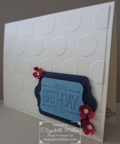 Stampin Up Because you care hostess stamp set. happy birthday card
