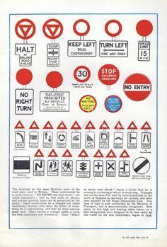 Items similar to British Road sign chart vintage traffic sign transport graphics boy bedroom decor on Etsy Traffic Signs Test, British Road Signs, North Carolina Dmv, Safe Driving Tips, Truck Signs, London Transport, Childhood Days, Model Train Layouts, Model Trains