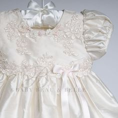 First Communion Dress Custom Made Exquisite Short Sleeve Lace . Lace Christening Gowns, Christening Outfit, Baby Girl Christening, Baptism Dress, Angel Gowns, Angel Dress, Baby Skirt, Baby Dress, Little Girl Dresses