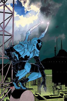 Blue Beetle on Patrol - Cully Hamner