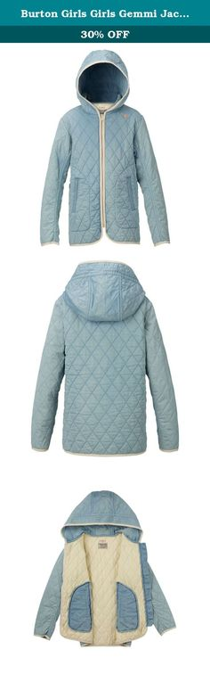 d4e7fa3ac Burton Girls Girls Gemmi Jacket, Indigo Herringbone, X-Large. The girls'