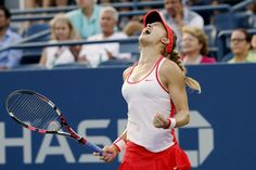 Eugenie Bouchard of Canada celebrates her win over Dominika Cibulkova of Slovakia in their women's singles third round match at the U.S. Open Championships tennis tournament in New York, September 4, 2015. REUTERS/Mike Segar