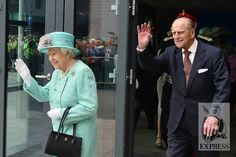 The Queen and Prince Philip depart #Cardiff Central Station ahead of a visit to the city