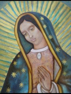 Virgin of Guadalupe Virgen de Guadalupe por MexicanTouchInArt