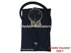 Bladder Insulators for Camelbak Hydration Pack Water Bladder Reservoirs (Black, 70oz / 2.0L). Keep your water cool in the heat and prevent freezing in the winter. Water Bladder Reservoir Insulation and Protection. Easy Installation. (Installation videos can be found on YouTube). Made from 4mm Neoprene Wetsuit material. Made in the USA. See Size Chart Picture and READ description below to order correct size.****(Water Bladder and Drink Tube Cover NOT included)****.