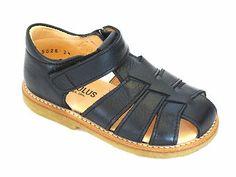 Angulus 5026 Boys Navy Leather Sandal | eBay