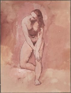 Nude, Study for The Harem (Woman Washing Herself)