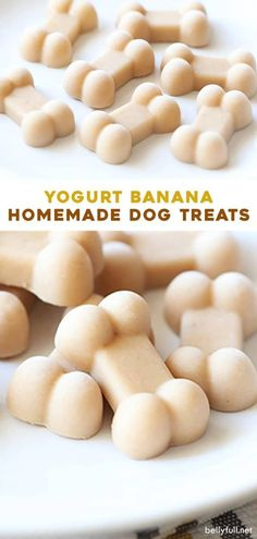 These easy homemade dog treats are made with only three ingredients - yogurt banana and peanut butter (or almond butter.) Easy healthy grain free frozen and refreshing perfect for your fur baby during summer or any time of year! No Bake Dog Treats, Frozen Dog Treats, Dog Treats Grain Free, Sweet Potato Dog Treats, Sweet Potatoes For Dogs, Peanut Butter Dog Treats, Healthy Dog Treats, Diy Dog Treats, Summer Dog Treats