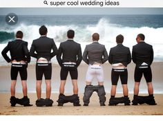 Hilarious groom and groomsmen picture idea