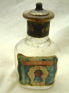 Pre-Civil War Small Perfume or Shaving Bottle, 'Lebanon' Zouave Soldier,1860
