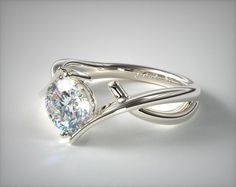 Two Tone Engagement Rings, Engagement Rings Cushion, Engagement Ring Styles, Designer Engagement Rings, Solitaire Engagement, Solitaire Ring, Diamond Rings, James Allen Rings, Contemporary Engagement Rings