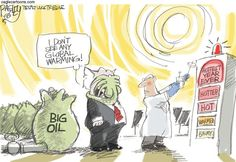 Hottest Year, Pat Bagley,Salt Lake Tribune,Oil, Big Oil, Fossil, Fossil Fuel, Science, Global Warming, Climate, Climate Change, GOP, Republicans, Renewable, Energy, Gas, Coal, 2015, Hottest, Hottest Year