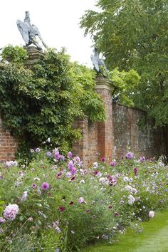 The new late annuals border at Cottesbrooke Hall - a gorgeous combination of dahlias, cosmos and other annuals.