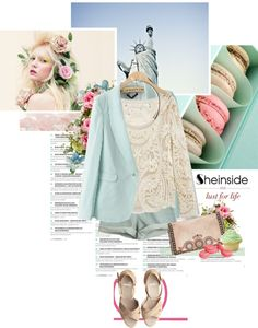 """Sheinside pastel"" by randomlife ❤ liked on Polyvore"