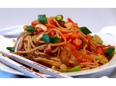 Cold+Sesame+Noodles+with+Golden+Garlic.   I do not like peppers so I do not use them but rather substitute other veggies like zucchini, eggplant or even green beans.