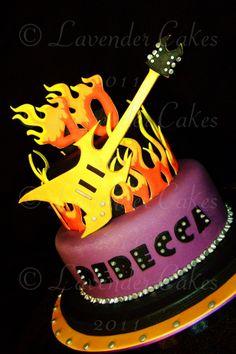 Rock 'n' Roll - 80's Goth Rock inspired birthday cake