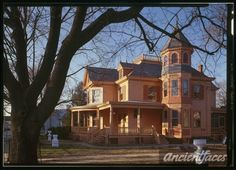"""John Lindale House, Magnolia, DE """"Center of the universe"""" sign is in front of this house. Victorian Porch, Victorian Houses, Victorian Era, Delaware, My Dream Home, Magnolia, Vintage Photos, Mansions, House Styles"""