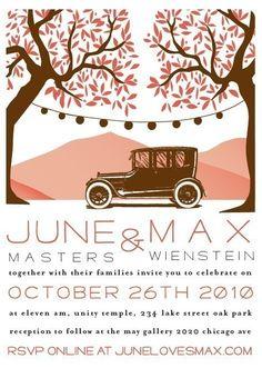 vintage car wedding invitations | Wedding Invitation Antique car by SwellAndGrand on Etsy