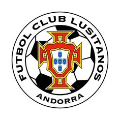 FC LUSITANOS (from the city-agglomeration Andorra la Vella) - Logo also found with 'ANDORRA' at the bottom end, 'AN' in blue, 'DOR' in yellow and 'RA' in red but not (yet) on this board Soccer Logo, Football Team Logos, World Football, Andorra, Sports Clubs, Sports Logos, Juventus Logo, Soccer, Logos