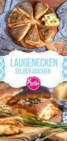 LAUGENECKEN SELBER MACHEN / Sallys Welt Hearty bases like the bakery. The yeast dough is buttered and layered before baking. So the lye corners inside [. Pampered Chef, Scones, Food Inspiration, Bread Recipes, Muffins, Bakery, Food Porn, Food And Drink, Pumpkin