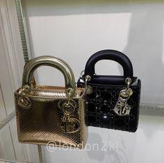 0b35532604e Gold Mini Lady Dior ❤it? Reserve it before it's gone! WhatsApp us #
