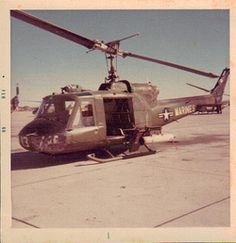 UH-1E Huey from HML-267 MCB Camp Pendleton, Calif. February 1969    Photo by Jim Wilkening - Vietnam Veteran