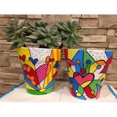 Flower Pot Art, Flower Pot Design, Flower Pot Crafts, Clay Pot Crafts, Painted Plant Pots, Painted Flower Pots, Pottery Painting, Ceramic Painting, Posca Art