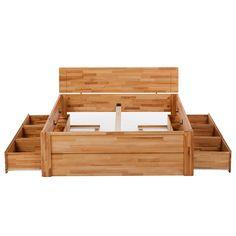 Letto in legno massello TiaWOOD - Durame di faggio oliato - 180 x 200cm