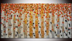 Free shipping  Original Contemporary Abstract by FlowerArtPainting, $249.00