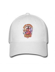 White Five Nights at Freddies PIZZA DIY Casquettes de baseball