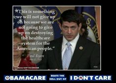 Paul Ryan re: Obamacare