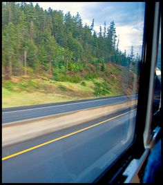 Greyhound Bus Window ~ The Edge of Never by J.A. Redmerski