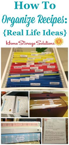 Real life ideas and solutions for how to organize recipes {on Home Storage Solutions 101}