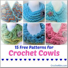 CrochetKim.com | 15 free crochet patterns for Cowls | a wonderful winter accessory perfect for gifts
