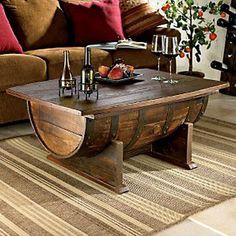 Oak Barrel Coffee Table | Cool People Shop  #table #coolpeopleshop #oakbarrel