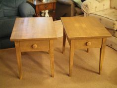 here a better picture of just the 2 rustic shaker style end tables i made